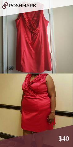 "Lane Bryant Ruffle Collar ""Dressy"" Dress, Sz 28 Lane Bryant Ruffle Collar Sleeveless ""Dressy"" Dress, Sz 28, Polyester, Worn once Lane Bryant Dresses Midi"