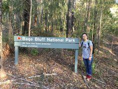 Jinru from Baotou China walking in Bago Bluff National Park
