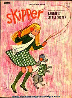©1965 Skipper (Barbie's Little Sister) Whitman Coloring Book