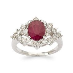 With a pink diamond in the center.