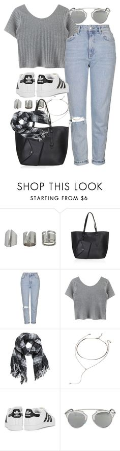 """""""Untitled #216"""" by simonakolevaa ❤ liked on Polyvore featuring Topshop, H&M, Forever 21, adidas Originals and Christian Dior"""