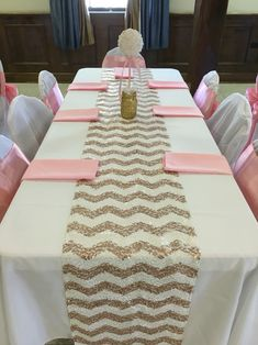 Pearl ball table centerpiece  Pink & Gold Glitter & Pearls Baby shower