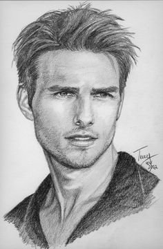 Tom_Cruise by *TerryXart (American Pencil She Artist) # Celebrity Pencil Drawing Art