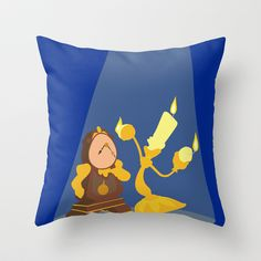 Beauty and the Beast Throw Pillow by TheWonderlander - $20.00