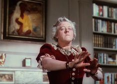 Madame Arcati in a trance in Blythe Spirit - one of my favourite films and loving the lace and velvet combo