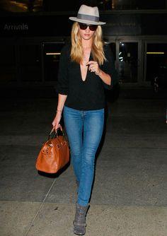 la modella mafia Rosie Huntington-Whiteley model off duty street style 2013 4