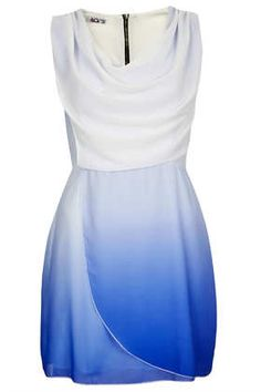 **Ombre Cowl Neck Dress by Wal G