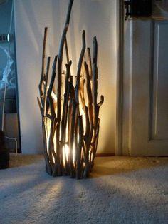 Romantische Lampe aus Treibholz, Dekoration fürs Wohnzimmer / romantic lamp mad… Driftwood romantic lamp, home decoration made by driftwood Key board made of TreibhDIY: copper lampThis is a piece of Monday