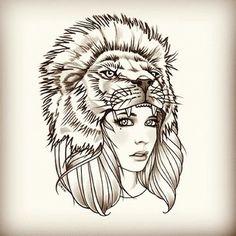 #Leão #Mulher #Tatto