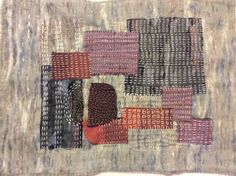Kimono fabric scraps with Kantha stitch - recycling what would otherwise be waste