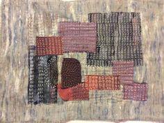 Kimono fabric scraps with Kantha stitch