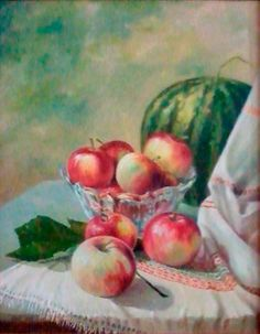 Василий Россин (Vasily Rossin), Натюрморт с арбузом (Still Life with Watermelon), 2009 г. Canvas, oil 40 х 50