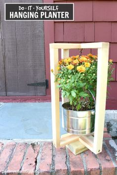 That's My Letter: Hanging Planter with free plans