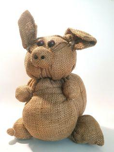 sackcloth pig plushy stuffed animal, used in VGC  #Unbranded Plushies, Teddy Bear, Toys, Animals, Ebay, Activity Toys, Animales, Animaux, Stuffed Animals