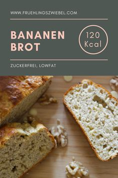 Sugar-free recipe for delicious banana bread. The homemade banana bread lasts all week and is therefore an ideal meal prep recipe. The sweet bananas mean you don't miss the sugar at all and have a great alternative to normal cakes. Homemade Banana Bread, Make Banana Bread, Banana Bread Without Sugar, Healthy Baking, Healthy Recipes, Sugar Free Recipes, Meal Prep, Cake Recipes, Clean Eating