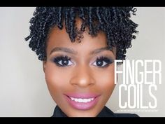 Finger Coil Out on Short Natural Hair - YouTube