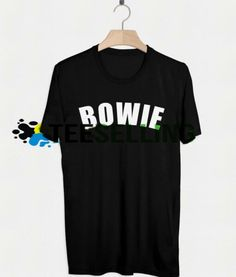 DAVID BOWIE T-SHIRT UNISEX Price: 15.50 #tshirt Funny Shirt Sayings, Shirts With Sayings, Funny Shirts, Cute Graphic Tees, Graphic Shirts, David Bowie T Shirt, Workout Shirts, How To Look Better, Unisex