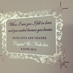 Some of the prettiest #wedding favor tags Ive ever seen. #letterpress #marriage #love