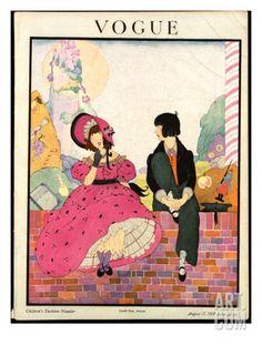 Vogue Cover - August 1918 Regular Giclee Print by Helen Dryden at Art.com