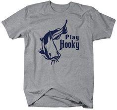 Shirts By Sarah Men's Funny Fishing T-Shirt Play Hooky Shirts For Fishermen