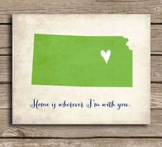 home is where...silhouette of state you live in