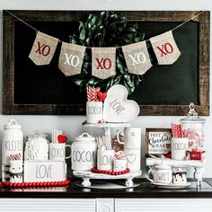 Decided it wasn't time to take down the hot cocoa bar until we actually get some snow days here in the PNW. Valentine Decorations, Christmas Decorations, Holiday Decor, Holiday Ideas, Seasonal Decor, Valentines Day Party, Be My Valentine, Valentine Ideas, Valentine Crafts
