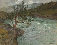 """""""The River Otta, Norway"""" by Frits Thaulow (1851-1906, Norway)"""