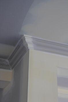 hamptons style cornice - Google Search Cornices Ceiling, Ceiling Coving, Hamptons House, The Hamptons, New Hampton, Hampton Style, Cornice Design, Architrave, Baseboards