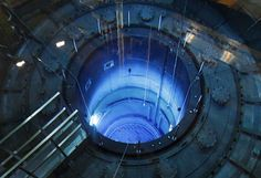 Hollywood imaginings of nuclear sites, it turns out, are actually pretty close to the real thing. This rare photo was snapped by _Reuters_ photographer Ruben Sprich during a yearly inspection of the Muehleberg nuclear power station in Switzerland. The cosmic blue glow is a result of Cherenkov radiation, an electromagnetic radiation [seen in reactors](http://www.popsci.com/science/article/2012-08/labs-go-boom-reed-college-teaches-how-run-nuclear-reactor).