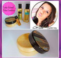 """A blogueira Giselle Soares do blog beleza rosa @soares_gisell usou e recomenda o Kit Cristalização Óleo de Argan da Tutanat. """" Particularmente é uma das linhas que eu mais amo para meus cabelos, pois além de ter um cheirinho super doce, não deixa meu cabelo pesado, fica com aquela carinha """"acabei de lavar"""". #blogueira #blog #produto #kit #oleo #argan #cabelo #look #loucasporcabelo #tutanat"""