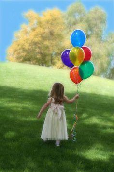 balloon and kid