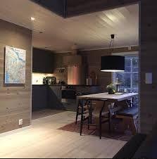 Cabin kitchen, wooden walls and danish desing chairs Cabin Kitchens, Wooden Walls, The Originals, Table, Mountains, House, Danish, Furniture, Instagram