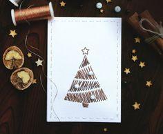 Christmas Greeting cards. Hand Christmas stitched by AylilAntoniu