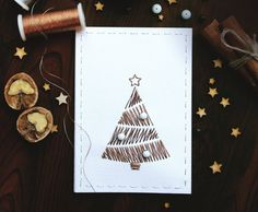 Christmas Greeting cards. Hand Christams stitched by AylilAntoniu