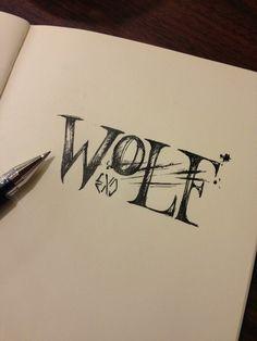 Wolf #exo #handwriting