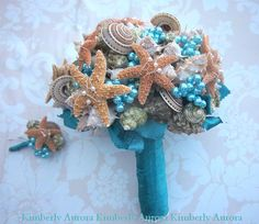 Made to Order Lustrous Captiva Seashell Bridal by romanticflowers, $285.00