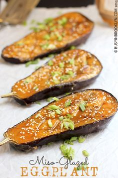 Busy in Brooklyn » Blog Archive » Miso-Glazed Eggplant