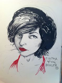 Drawing of Cynthia von Buhler by Molly Crabapple.