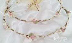 Wedding crowns stefana with lilies 1063 Orthodox Wedding, Christening Favors, Hair Wreaths, Greek Wedding, Baptism Invitations, Wedding Favors, Wedding Crowns, Wedding Ideas, Pink Color