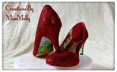 Excited to share the latest addition to my #etsy shop: Sparkly red Dorothy Wizard of Oz inspired shoes/ red glitter heels/ http://etsy.me/2CKxWcb