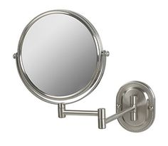 online shopping for Jerdon Wall Mount Makeup Mirror Magnification, Nickel Beaded Finish from top store. See new offer for Jerdon Wall Mount Makeup Mirror Magnification, Nickel Beaded Finish