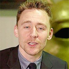 """Tom Hiddleston. What's this from? Looks like he's saying """"Hugely impressed, but..."""""""