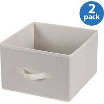 Walmart: Household Essentials Drawers for 6-Shelf Hanging Closet Organizer, Natural Canvas, Set of 2