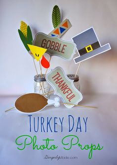 Gingerly Made: Turkey Day Photo Props #MakeIt