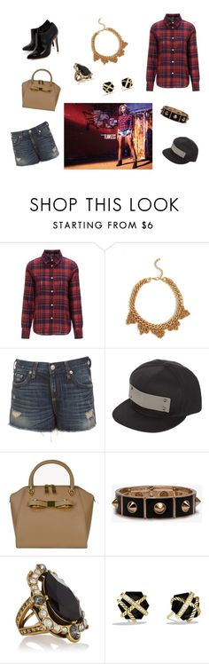 """""""Untitled #184"""" by joshua-d-tyson ❤ liked on Polyvore featuring A.P.C., rag & bone, Ted Baker, Forever 21, Oscar de la Renta, David Yurman and Topshop"""