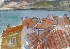 Roofs at Calvi, Corsica - Anne Redpath - Art - FAS EDINBURGH Fine ...
