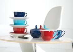 Set latiere din portelan Doppio Red, Flirt, 160 ml, 2 piese Flirting, Tableware, Red, Home Decor, Dinnerware, Decoration Home, Room Decor, Tablewares, Dishes