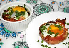 zadanie - gotowanie: Muffiny jajeczne z szynką parmeńską.