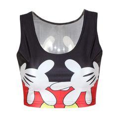 390033d2e98c9 Mickey Mouse Crop top. Summer Crop Tops