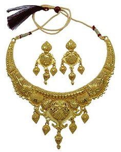 b81161b9617c Comprar Ofertas de Banithani enchapada en oro tradicional India collar  diseño pendiente conjunto joyería bollywood barato. ¡Mira las ofertas!